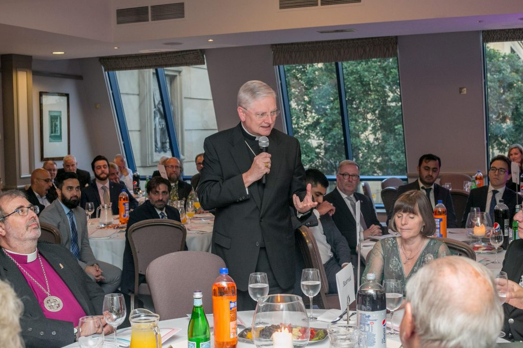 Archbishop Cushley speaking at the Eid dinner hosted by the Scottish Ahl-ulBayt Society