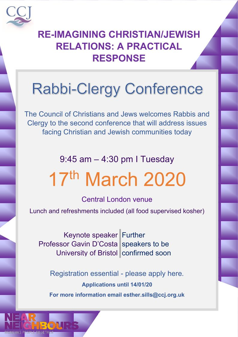Rabbi-Clergy Conference 2020 Flyer